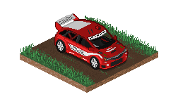 Rally Car on dirt by StylePixelStudios