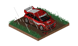 Rally Car in Rain - Dirt by StylePixelStudios