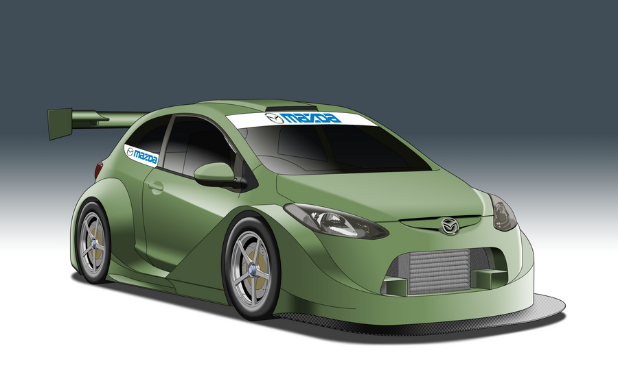 supert12 race series - mazda 2stylepixelstudios on deviantart