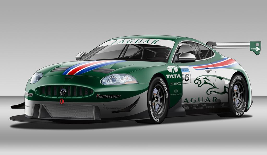 Jaguar XK GT Race Car by StylePixelStudios