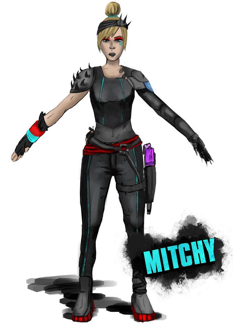 Michelle - Borderlands style :3 by Mojo-Smileyface