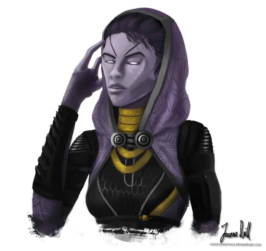 Tali'Zorah unmasked by Mojo-Smileyface