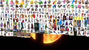Super Smash Bros Fighters Roster by Felipexbox