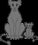 Lion King Adult/Cub Comparison Free Base/Lineart by jackson2001Bonum