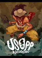 USOPP, BRAVE WARRIOR OF THE SEA by scrotumnose