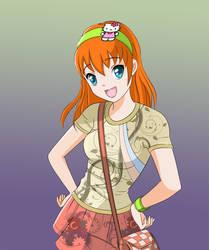 Orange-girl by Karu-Eru