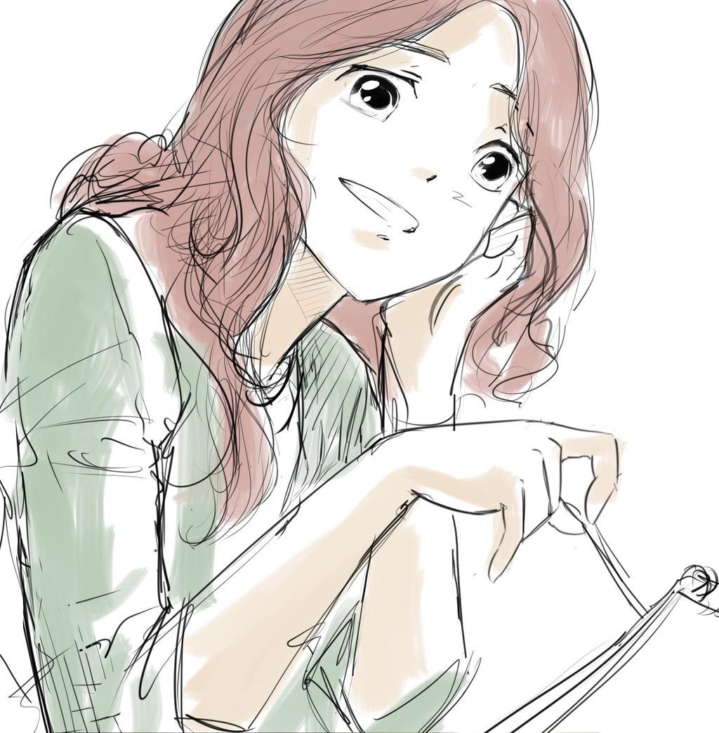 Anime girl smile