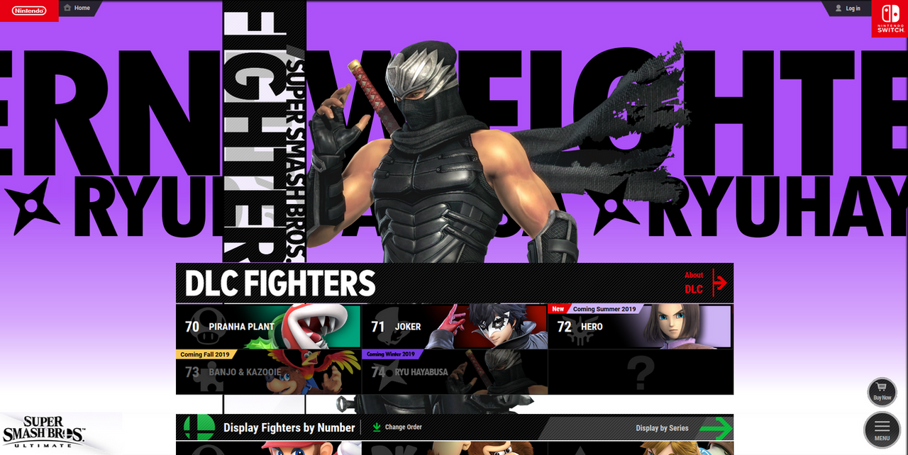 Super Smash Bros Ultimate X Ninja Gaiden Ryu H By