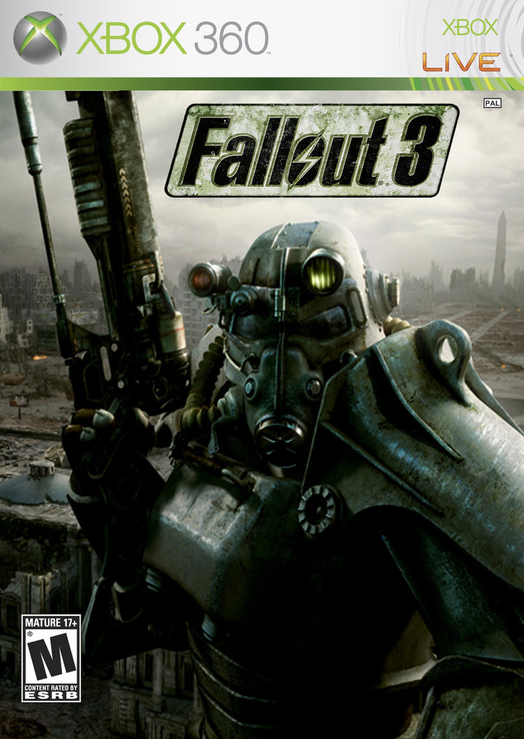 Xbox 360 Game Cover- Fallout 3 by o0TheForgotten0o on ... Xbox 360 Game Cover Art