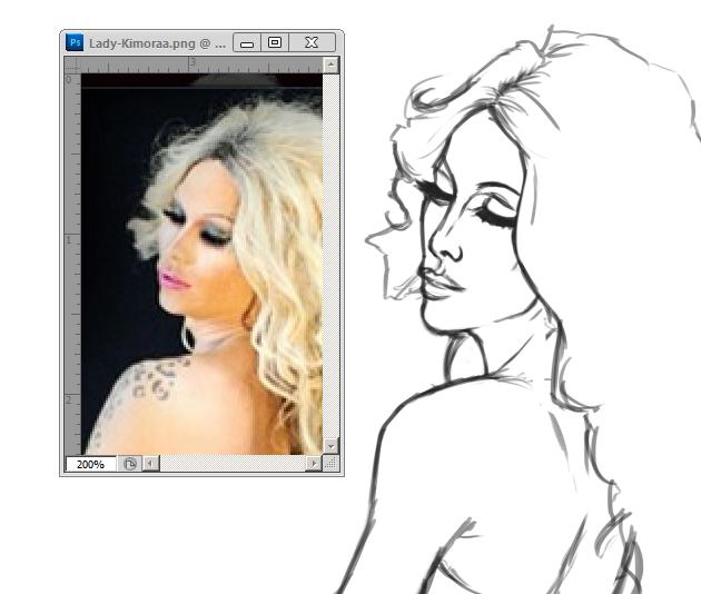 Lady-K-sketch by eliexiel