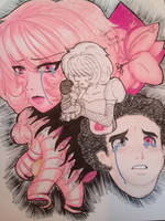 Steven and mother Pink Diamond by greciasardinajimenez