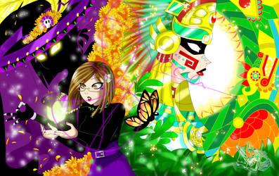 Ocs me Catrina and Aztec Quetzalccoatl Gala