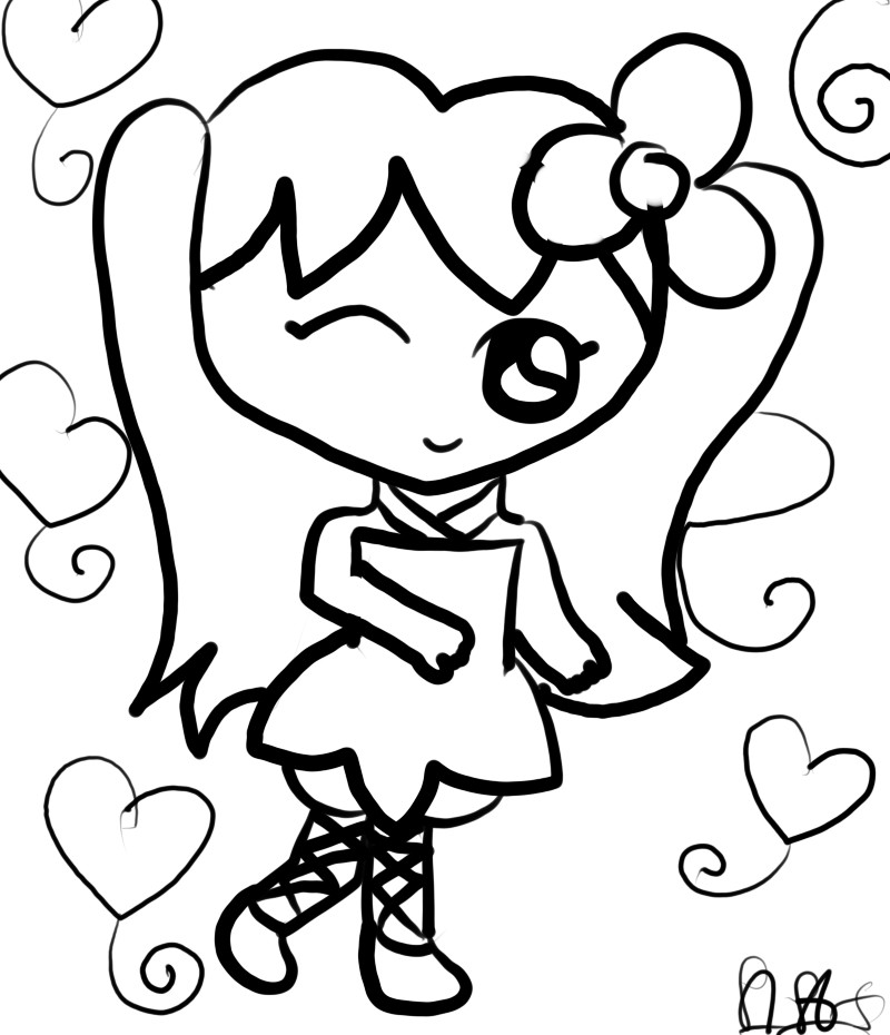 Scribbles Drawing And Coloring Book : Fairy lineart colour plz by cheerliah on deviantart