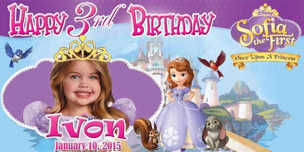Birthday Tarpaulin Disney Sofia the First Template by ...