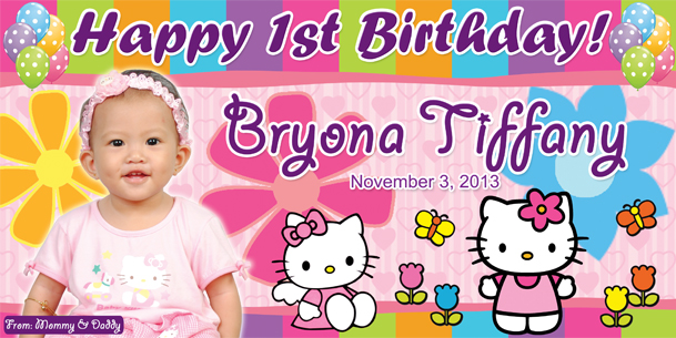 Birthday Tarpaulin Hello Kitty Template 2 By Paographicstemplates