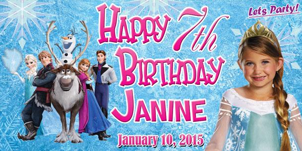 Birthday Tarpaulin Disney Frozen Theme Template By