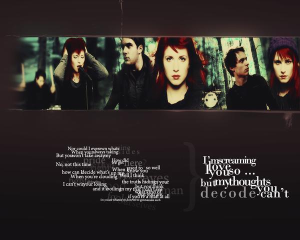 Paramore - Decode by kozee on DeviantArt Paramore Decode Lyrics