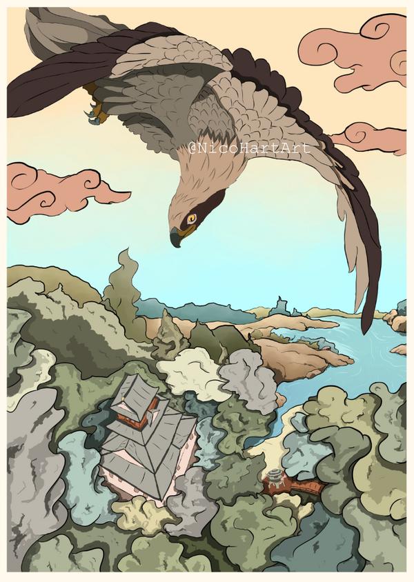 100 Views of Panda Kingdom: Hawk's Eye View by NicoHartArt