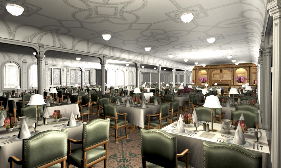 titanic 1st dining saloon i by hudizzle on deviantart