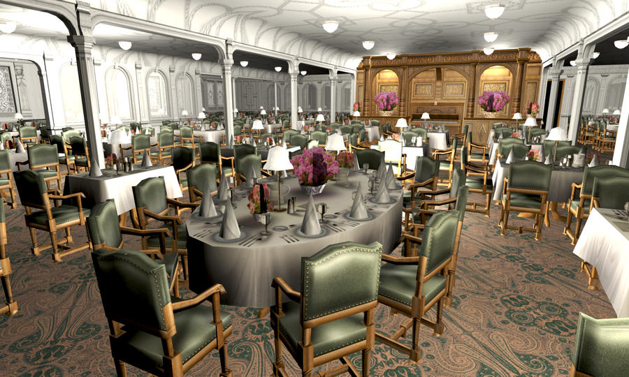 titanic 1st dining saloon ii by hudizzle on deviantart