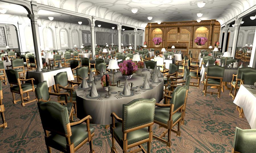 titanic 1st dining saloon ii by hudizzle on deviantart