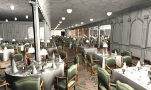 Titanic 1st Dining Saloon III by Hudizzle