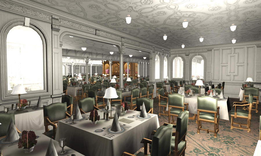 Titanic 1st Dining Saloon IV by Hudizzle on DeviantArt