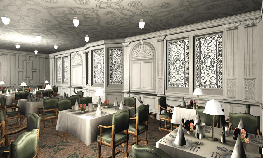 titanic 1st dining saloon v by hudizzle on deviantart