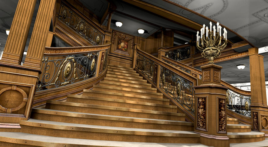 Titanic 1st class reception v by hudizzle on deviantart Who was on the titanic in first class