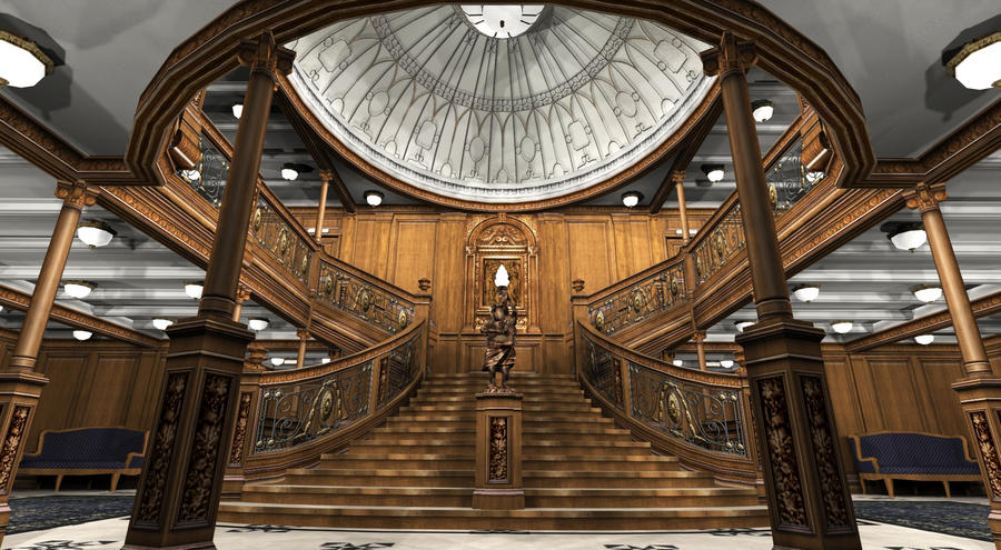 Titanic Grand Staircase VII by Hudizzle on DeviantArt