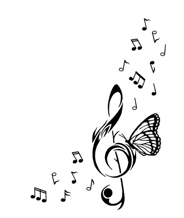 Butterfly Music Note Tattoo Interactive @KoolGadgetz.com