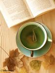 tea. books. autumn.