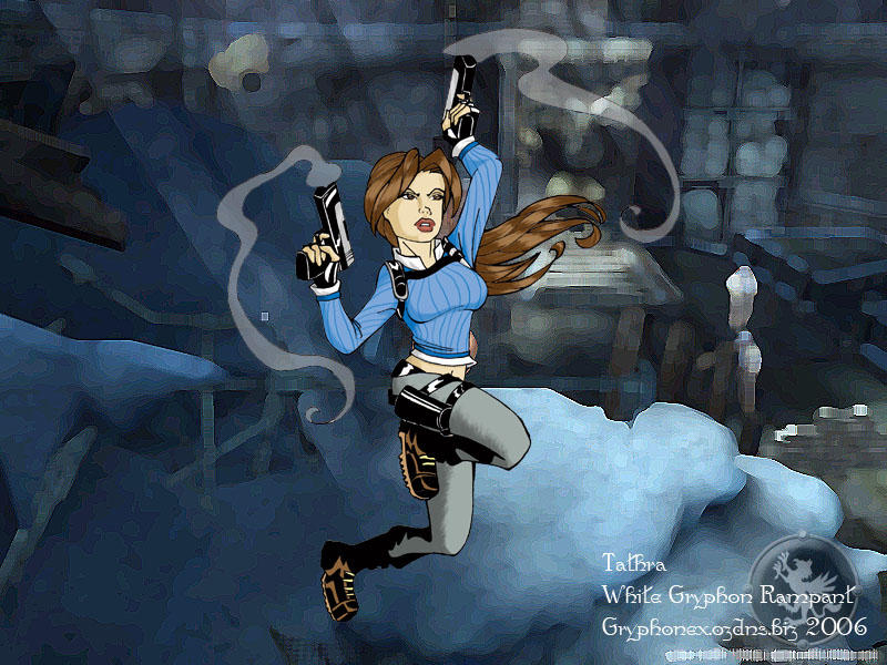 Lara: Legend winter by WhiteGryphonRampant