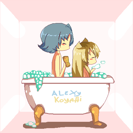 Amour Sucre Pixel Alexy And Koyahi By Anime1448 On Deviantart