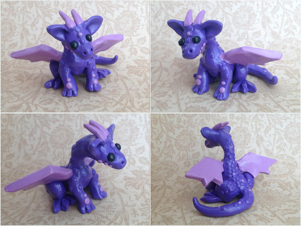 fancy purple clay dragon by forestglade on deviantart