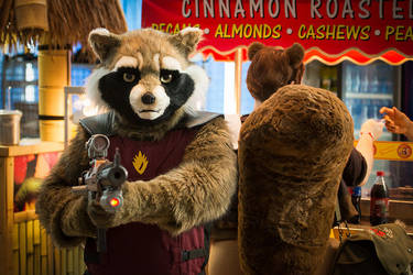 Rocket Raccoon Cosplay (Dallas Comic Con 2015)