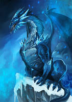Frost Dragon by pixelcharlie