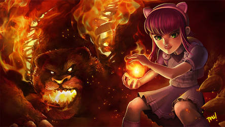 League of Legends Annie Fan Art by pixelcharlie