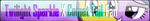 Twilight Sparkle X Comet Tail Fan - Fan Button by ForbiddenZodiac