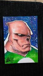 Kilowog Copic sketchcard by Shawn-Langley