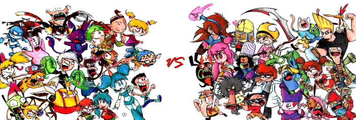 Nickelodeon VS Cartoon Network by tavini1