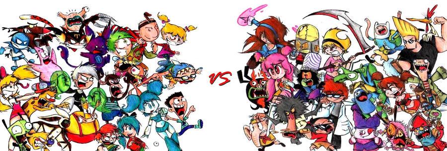 Cartoon Characters Early 2000s : Nickelodeon vs cartoon network by tavini on deviantart