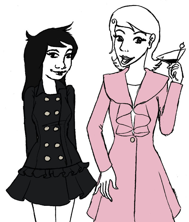 Roxy and Jade Coats by mokia-sinhall