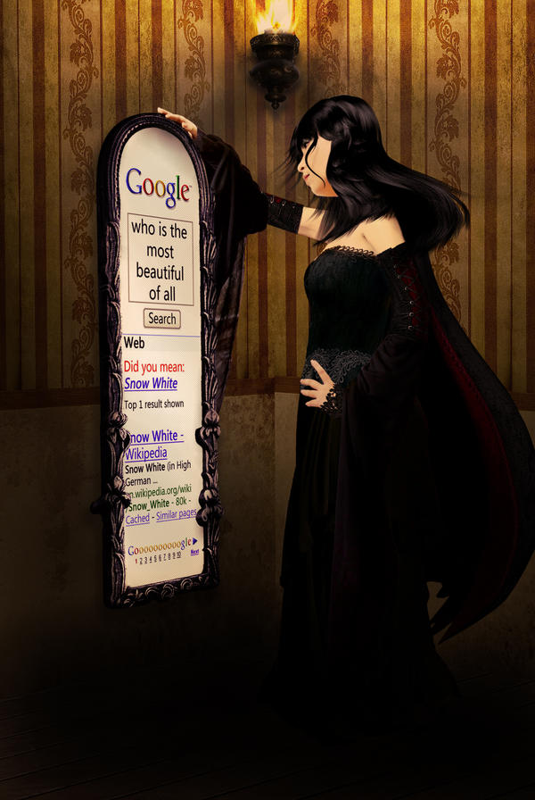 black queen and google mirror by ioutgame