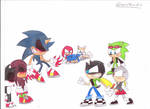 Jack,Monera and Scourge vs. Team Sonic Exe