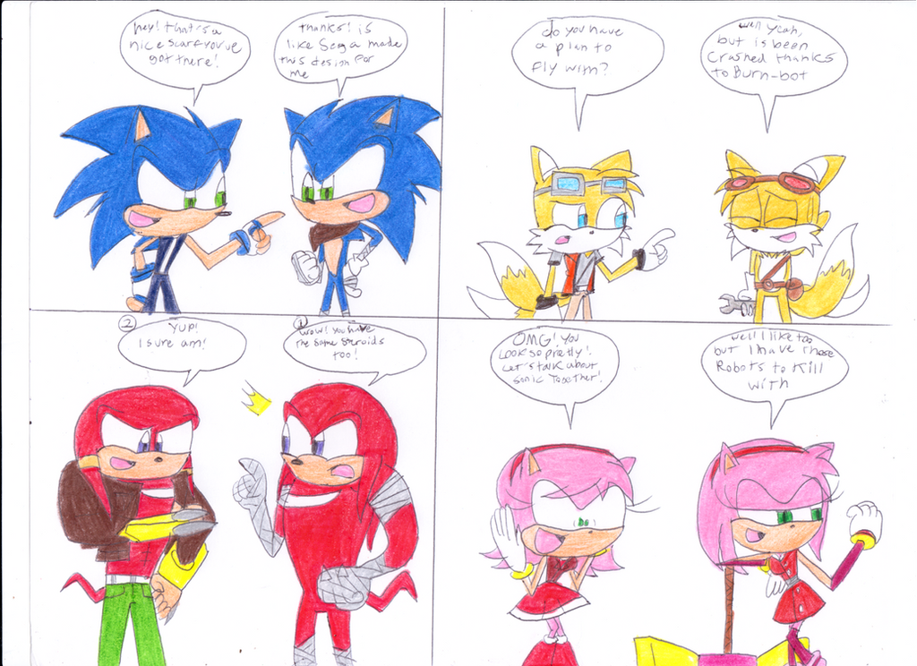 sonic meets rainbine by - photo #13