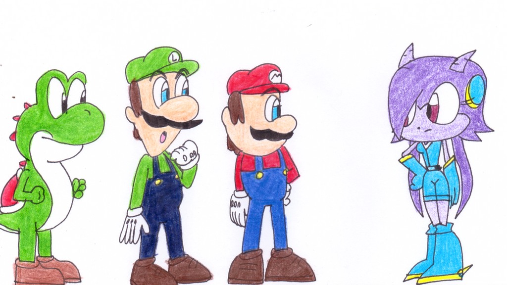mario and luigi meet sonic the hedgehog