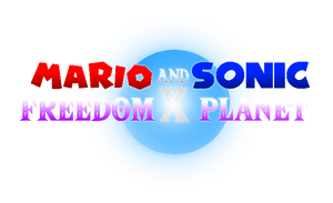 Mario and Sonic x Freedom Planet Logo by Jack-Hedgehog