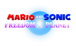 Mario and Sonic x Freedom Planet Logo