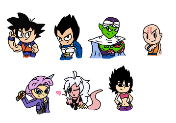 Some Dragon Ball Z (Super) Drawing by Jack-Hedgehog
